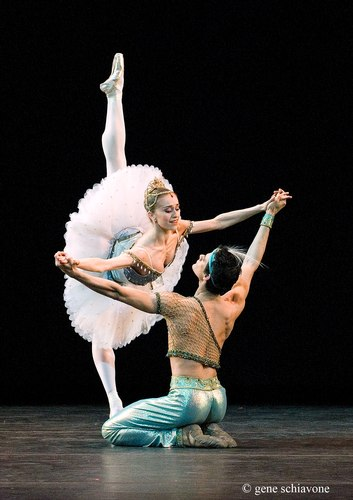 Marianela Nunez and Thiago Soares (The Royal Ballet) performing at YAGP 2007 Gala at NY City Center. Photo by Gene Schiavone.