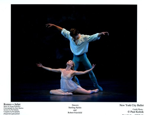 Sterling Hyltin and Robert Fairchild in NYCB's Romeo + Juliet