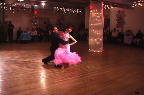 Pavlo and Tetyana Bilych perform a Quickstep