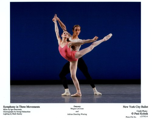 Megan LeCrone and Adrian Danschig-Waring in NYCB's Symphony in Three Movements