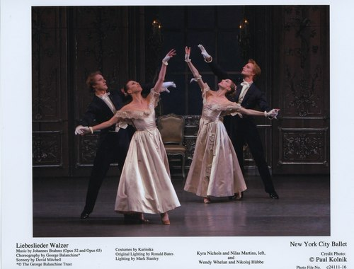 Kyra Nichols and Nilas Martins, Wendy Whelan and Nikolaj Hübbe in NYCB's Liebeslieder Walzer