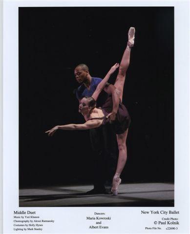 Maria Kowroski and Albert Evans in 'Middle Duet'
