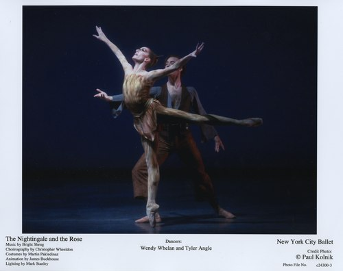 Wendy Whelan and Tyler Angle in 'The Nightingale and the Rose' June 8, 2007 at the New York City Ballet