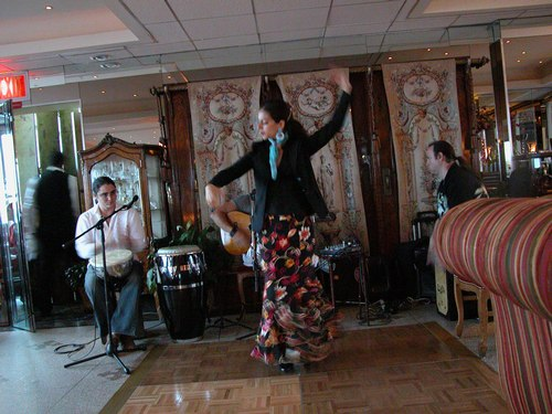 Sol dances Flamenco at Terrace in the Sky