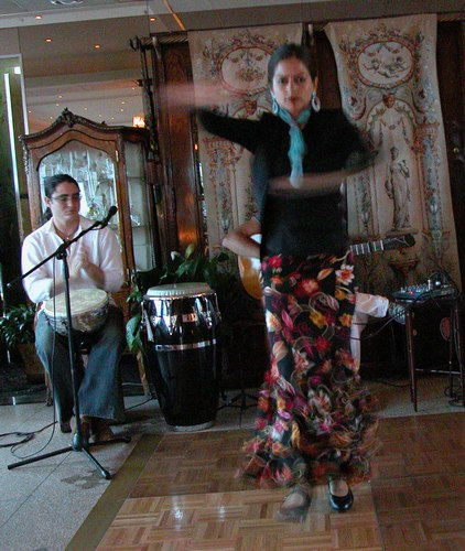 Sol dances Flamenco at Terrace in the Sky