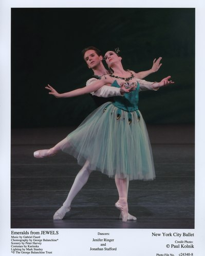 Jenifer Ringer and Jonathan Stafford dance a scene from 'Jewels' at the New York City Ballet. June 21, 2007.