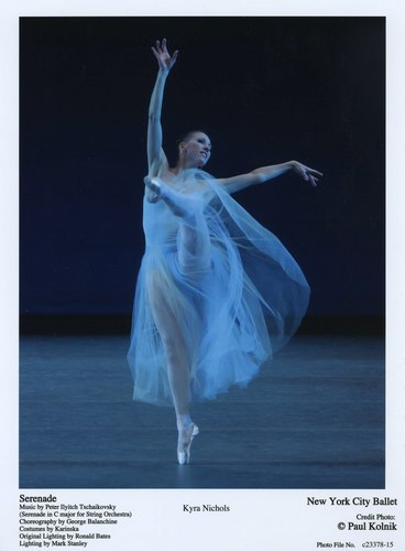 Kyra Nichols dances in 'Serenade' at the New York City Ballet, June 22, 2007.