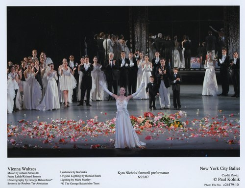 'Vienna Waltzes' marks Kyra Nichols farewell performance for the New York City Ballet. June 22, 2007.
