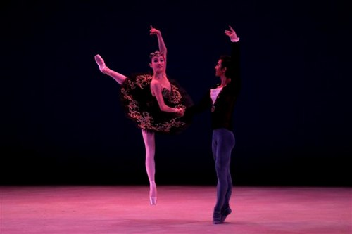 Eun Ji Ha of Korea, winner of a Gold Medal, and Kwi Sub Park of Korea, winner of a Bronze Medal. 'Black Swan Pas de Deux'