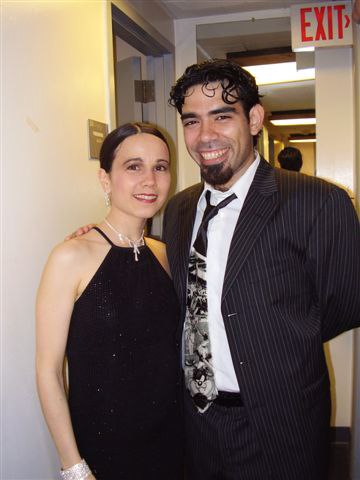 Annatina with Dario da Silva, after performance for the Pan American Symphony Orchestra, Washington