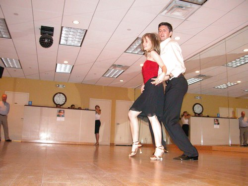 Donatas and Heather perform Salsa