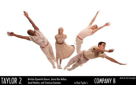 Winston Dynamite Brown, Jamie Rae Walker, Jared Wootan and Francisco Graciano in Paul Taylor's Company B