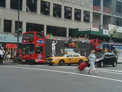 Times Square and Gray Line NY Sightseeing Buses