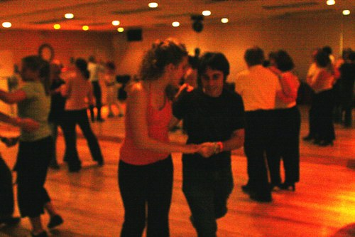 Swing 'n Salsa Party - Lindy Room Camera: ISO 3200, 1/125, 2.8, Brightness adjusted using Curves in Photoshop