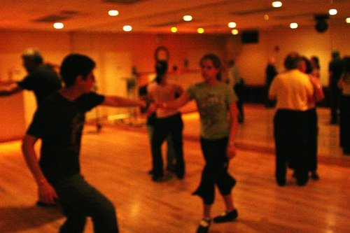 Swing 'n Salsa Party - Lindy Room Camera: ISO 3200, 1/125, 2.2, Brightness adjusted using Curves in Photoshop