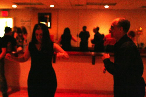 Swing 'n Salsa Party - Lindy Room Camera: ISO 3200, 1/125, 2.5, Brightness adjusted using Curves in Photoshop