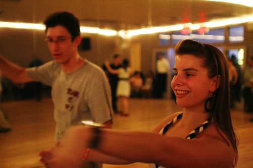 Swing 'n Salsa Party - Latin Room Camera: ISO 3200, 1/125, 1.4, Brightness adjusted using Curves in Photoshop