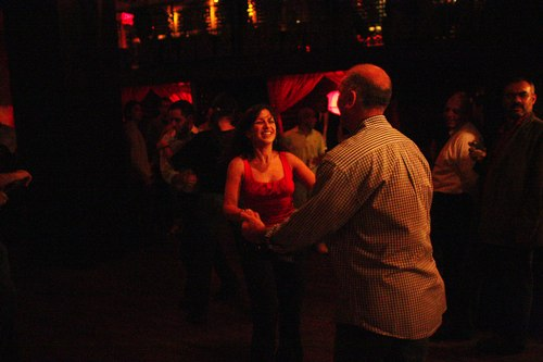 Dancing at Taj Camera: ISO 6400, 1/125, 1.4, Brightness adjusted using Curves in Photoshop