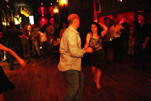 Dancing at Taj Camera: ISO 6400, 1/50, 1.4, Brightness adjusted using Curves in Photoshop