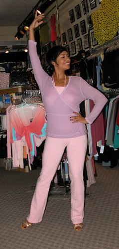 Adorable in Lavender and Pink. Modeled by Talia Castro-Pozo. Available at <a href='http://www.onstagedancewear.com'>OnStageDancewear.com</a>.
