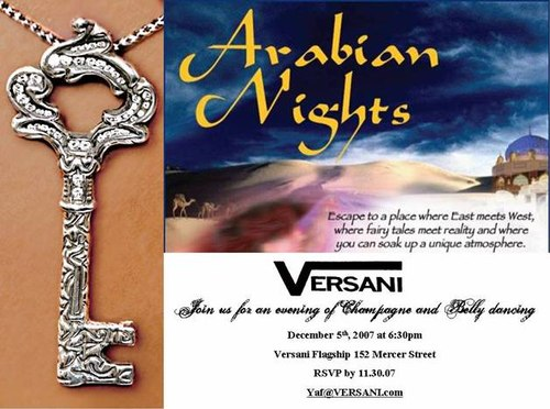 Flyer for Versani Belly Dance Show
