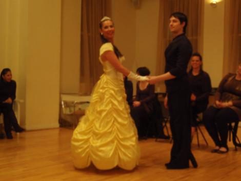 Instructor Jacob Jason dancing with a student.