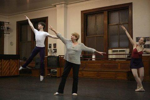 Sallie Wilson rehearsing 'Lilac Garden' with Kyle Coffman Elena Zahlman