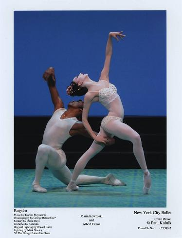 Maria Kowroski and Albert Evans in NYCB's 'Bugaku'