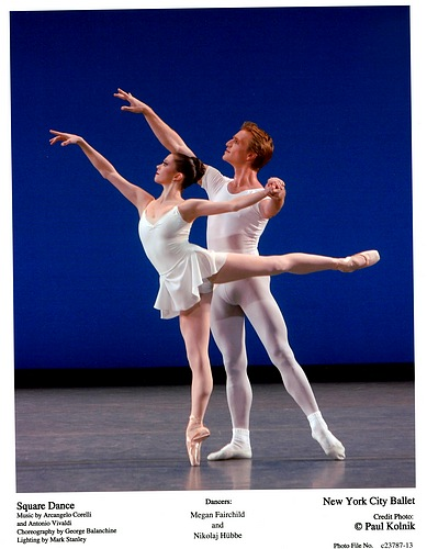 Megan Fairchild and Nikolaj Hubbe in NYCB's Square Dance