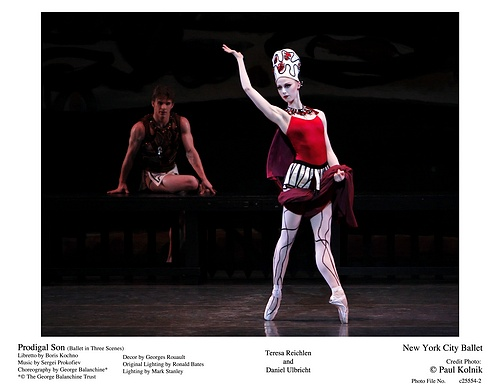 Teresa Reichlen and Daniel Ulbricht in NYCB's Prodigal Son
