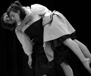 Co-Choreographers Jennifer Kayle and Lisa Gonzales in 'Fugitive'