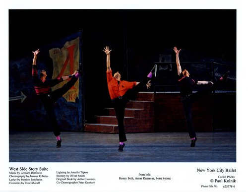 Henry Seth, Amar Ramasar and Sean Suozzi in NYCB's 'West Side Story Suite'