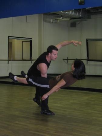Jacob 'Kujo' Lyons and Sarah Moser of Lux Aeterna rehearse 'Metanoia'