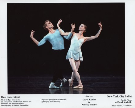 Darci Kistler and Nikolaj H&uuml;bbe in <i>Duo Concertant</i>