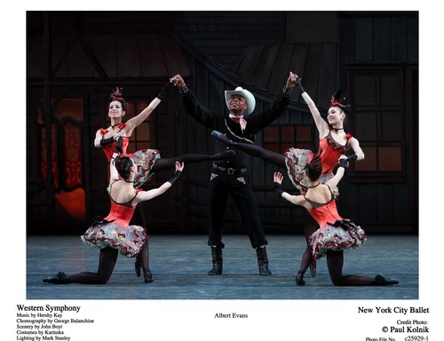 New York City Ballet's Albert Evans in Western Symphony