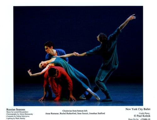 New York City Ballet's Amar Ramasar, Rachel Rutherford, Sean Suozzi and Jonathan Stafford in Russian Seasons