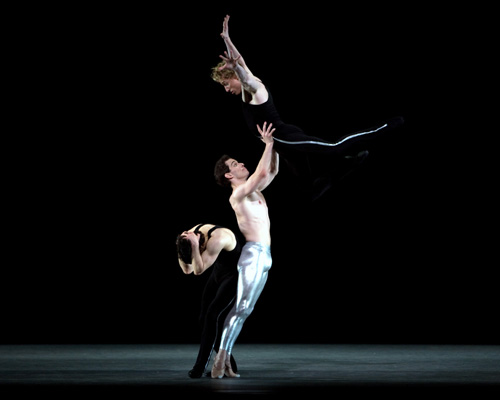 Herman Cornejo, Craig Salstein and Ethan Stiefel in Twyla Tharp's 'Rabbit and Rogue'