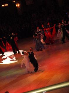 View of Professional Standard Ballroom Championships, from the balcony.