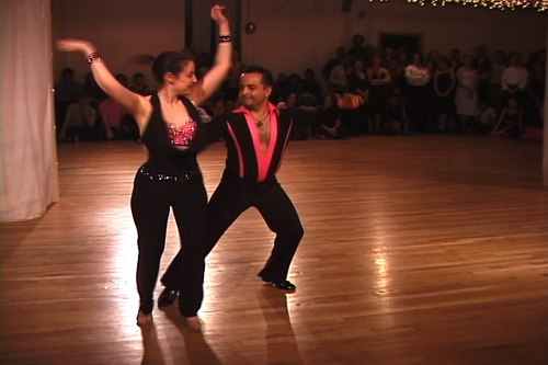 Stepping Out Studios April 25, 2008 Student Showcase Sammy Schecter & Ricardo Villa - Hustle (They are also the 2008 Amateur World Hustle Champions!)  (coached by Lori Ann Greenhouse)