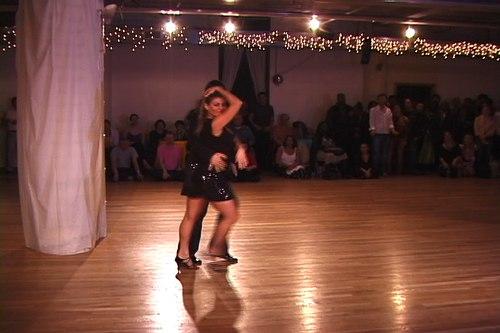 Stepping Out Studios April 25, 2008 Student Showcase Tamara Van Leeuwen & Tybaldt Ulrich (instructor) - West Coast Swing