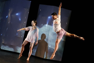 Sonja Kostich and Miguel Anaya in 'small earthquakes...'