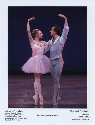 New York City Ballet's Sara Mearns and Jared Angle in 'A Simple Symphony'