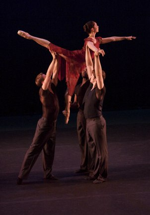 Elyssa Dole, Milan Misko, Mark Taylor and Royce Zackery in Arms of Three