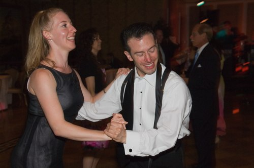 Dancing at the reception