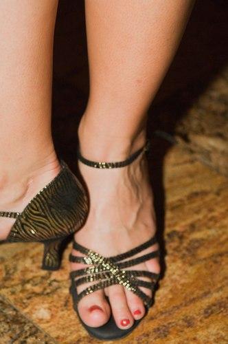 Lisa Allen is wearing <a href='http://www.freedusa.com' target='_blank'>Freed of London</a> shoes purchased at <a href='http://www.onstagedancewear.com' target='_blank'>On Stage Dancewear</a>.