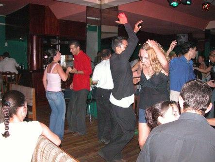 Dancing downstairs