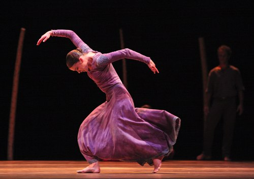 Houston Ballet's program: Of An Era Ballet: Jardi Tancat choreographed by Nacho Duato Dancers: Jaquel Andrews