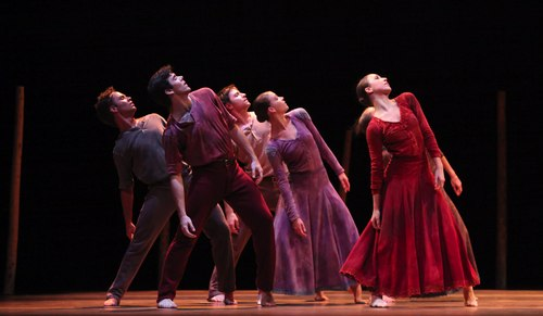 Houston Ballet's program: Of An Era Ballet: Jardi Tancat choreographed by Nacho Duato Dancers: Artists of Houston Ballet