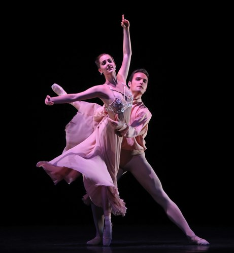Houston Ballet's program: Of An Era Ballet: Nosotros choreographed by Stanton Welch Dancers: Michelle Carpenter and Nicholas Leschke