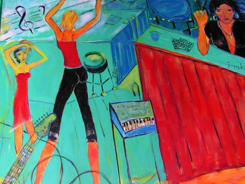 More dancing in another section of the same mural